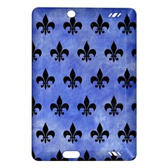 Royal1 Black Marble & Blue Watercolor Amazon Kindle Fire Hd (2013) Hardshell Case by trendistuff