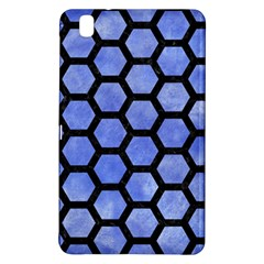 Hexagon2 Black Marble & Blue Watercolor (r) Samsung Galaxy Tab Pro 8 4 Hardshell Case by trendistuff