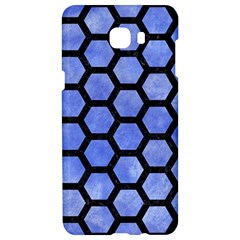Hexagon2 Black Marble & Blue Watercolor (r) Samsung C9 Pro Hardshell Case  by trendistuff