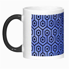 Hexagon1 Black Marble & Blue Watercolor (r) Morph Mug by trendistuff