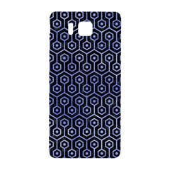 Hexagon1 Black Marble & Blue Watercolor Samsung Galaxy Alpha Hardshell Back Case by trendistuff