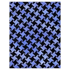 Houndstooth2 Black Marble & Blue Watercolor Drawstring Bag (large) by trendistuff