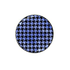 Houndstooth1 Black Marble & Blue Watercolor Hat Clip Ball Marker (10 Pack) by trendistuff