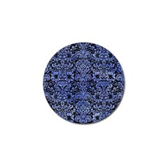 Damask2 Black Marble & Blue Watercolor Golf Ball Marker (4 Pack) by trendistuff