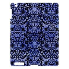 Damask2 Black Marble & Blue Watercolor Apple Ipad 3/4 Hardshell Case by trendistuff