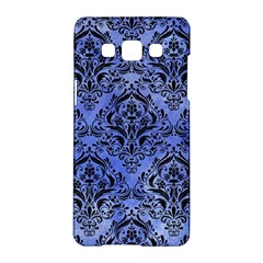 Damask1 Black Marble & Blue Watercolor (r) Samsung Galaxy A5 Hardshell Case  by trendistuff