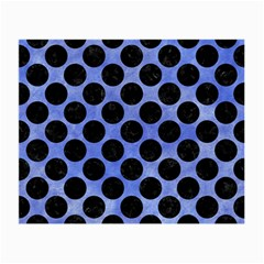 Circles2 Black Marble & Blue Watercolor (r) Small Glasses Cloth (2 Sides) by trendistuff