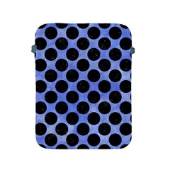 Circles2 Black Marble & Blue Watercolor (r) Apple Ipad 2/3/4 Protective Soft Case by trendistuff