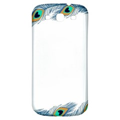 Beautiful Frame Made Up Of Blue Peacock Feathers Samsung Galaxy S3 S Iii Classic Hardshell Back Case by Nexatart