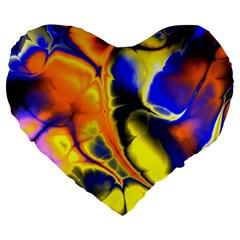 Fractal Art Pattern Cool Large 19  Premium Heart Shape Cushions by Nexatart