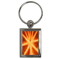 Red Leaf Macro Detail Key Chains (rectangle)  by Nexatart