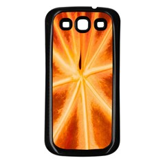 Red Leaf Macro Detail Samsung Galaxy S3 Back Case (black) by Nexatart
