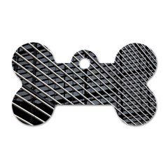 Abstract Architecture Pattern Dog Tag Bone (two Sides) by Nexatart
