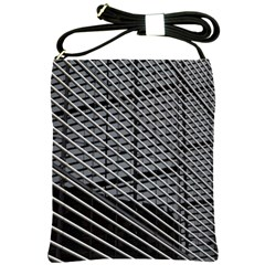 Abstract Architecture Pattern Shoulder Sling Bags by Nexatart