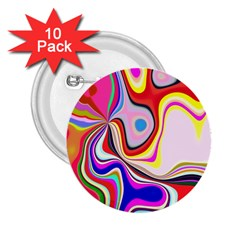 Colourful Abstract Background Design 2 25  Buttons (10 Pack)  by Nexatart