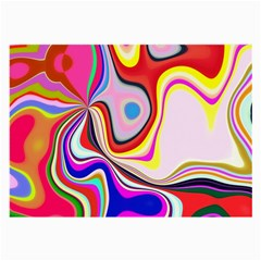 Colourful Abstract Background Design Large Glasses Cloth (2 Side) by Nexatart