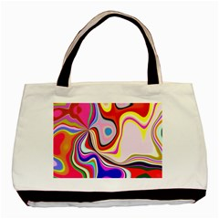 Colourful Abstract Background Design Basic Tote Bag (two Sides) by Nexatart