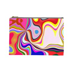 Colourful Abstract Background Design Cosmetic Bag (large)  by Nexatart