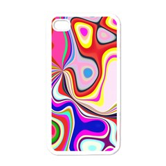 Colourful Abstract Background Design Apple Iphone 4 Case (white) by Nexatart