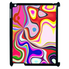 Colourful Abstract Background Design Apple Ipad 2 Case (black) by Nexatart