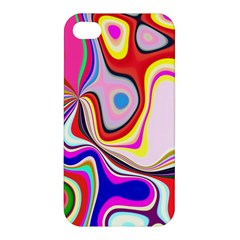 Colourful Abstract Background Design Apple Iphone 4/4s Premium Hardshell Case by Nexatart