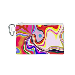 Colourful Abstract Background Design Canvas Cosmetic Bag (s) by Nexatart
