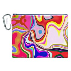 Colourful Abstract Background Design Canvas Cosmetic Bag (xxl) by Nexatart