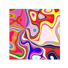 Colourful Abstract Background Design Small Satin Scarf (square) by Nexatart