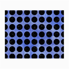 Circles1 Black Marble & Blue Watercolor (r) Small Glasses Cloth (2 Sides) by trendistuff