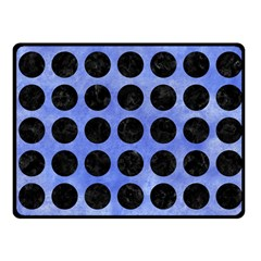 Circles1 Black Marble & Blue Watercolor (r) Fleece Blanket (small) by trendistuff