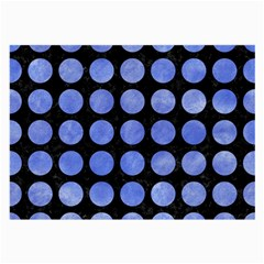 Circles1 Black Marble & Blue Watercolor Large Glasses Cloth by trendistuff