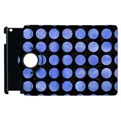 Circles1 Black Marble & Blue Watercolor Apple Ipad 2 Flip 360 Case by trendistuff
