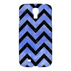 Chevron9 Black Marble & Blue Watercolor (r) Samsung Galaxy S4 I9500/i9505 Hardshell Case by trendistuff