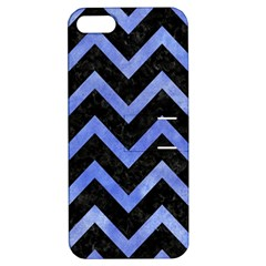 Chevron9 Black Marble & Blue Watercolor Apple Iphone 5 Hardshell Case With Stand by trendistuff