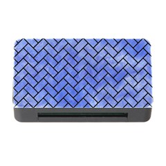 Brick2 Black Marble & Blue Watercolor (r) Memory Card Reader With Cf by trendistuff