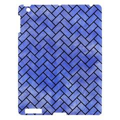 Brick2 Black Marble & Blue Watercolor (r) Apple Ipad 3/4 Hardshell Case by trendistuff