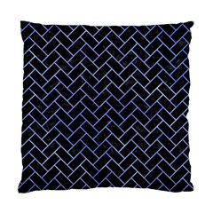 Brick2 Black Marble & Blue Watercolor Standard Cushion Case (one Side) by trendistuff