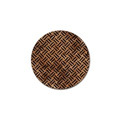 Woven2 Black Marble & Brown Stone (r) Golf Ball Marker by trendistuff