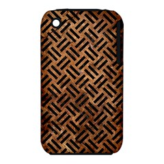 Woven2 Black Marble & Brown Stone (r) Apple Iphone 3g/3gs Hardshell Case (pc+silicone) by trendistuff