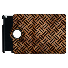 Woven2 Black Marble & Brown Stone (r) Apple Ipad 2 Flip 360 Case by trendistuff