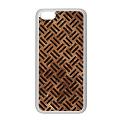 Woven2 Black Marble & Brown Stone (r) Apple Iphone 5c Seamless Case (white) by trendistuff