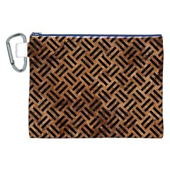 Woven2 Black Marble & Brown Stone (r) Canvas Cosmetic Bag (xxl) by trendistuff
