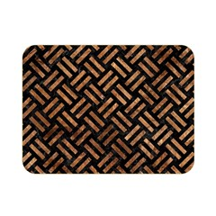 Woven2 Black Marble & Brown Stone Double Sided Flano Blanket (mini) by trendistuff