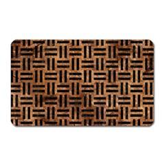 Woven1 Black Marble & Brown Stone (r) Magnet (rectangular) by trendistuff