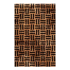 Woven1 Black Marble & Brown Stone (r) Shower Curtain 48  X 72  (small) by trendistuff
