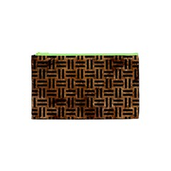 Woven1 Black Marble & Brown Stone (r) Cosmetic Bag (xs) by trendistuff
