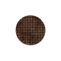 Woven1 Black Marble & Brown Stone Golf Ball Marker (4 Pack) by trendistuff