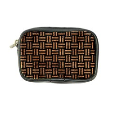 Woven1 Black Marble & Brown Stone Coin Purse by trendistuff
