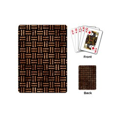 Woven1 Black Marble & Brown Stone Playing Cards (mini) by trendistuff
