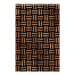 Woven1 Black Marble & Brown Stone Shower Curtain 48  X 72  (small) by trendistuff